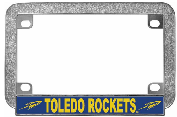 University of Toledo Chrome Metal Motorcycle License Plate Frame