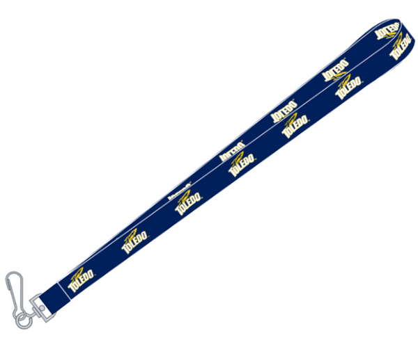 University of Toledo Navy Sublimated Lanyard