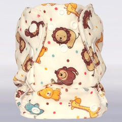 Bam+Boo Newborn All-in-One Cloth Nappy Giraffe Print