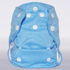 Bam+Boo Newborn All-in-One Cloth Nappy Pastel Blue Print