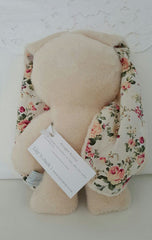 Lily n Jack Snuggle Bunny Caramel with Floral Cotton Ears