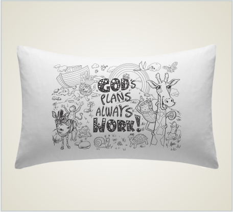 "Case o'Faith Pillowcase ""Toddler - Gods Plans"""