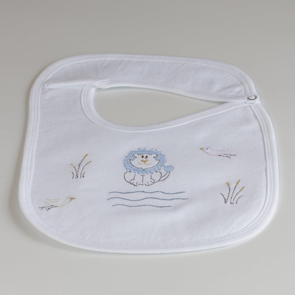 Nocturnal Affair White Bib - Lion