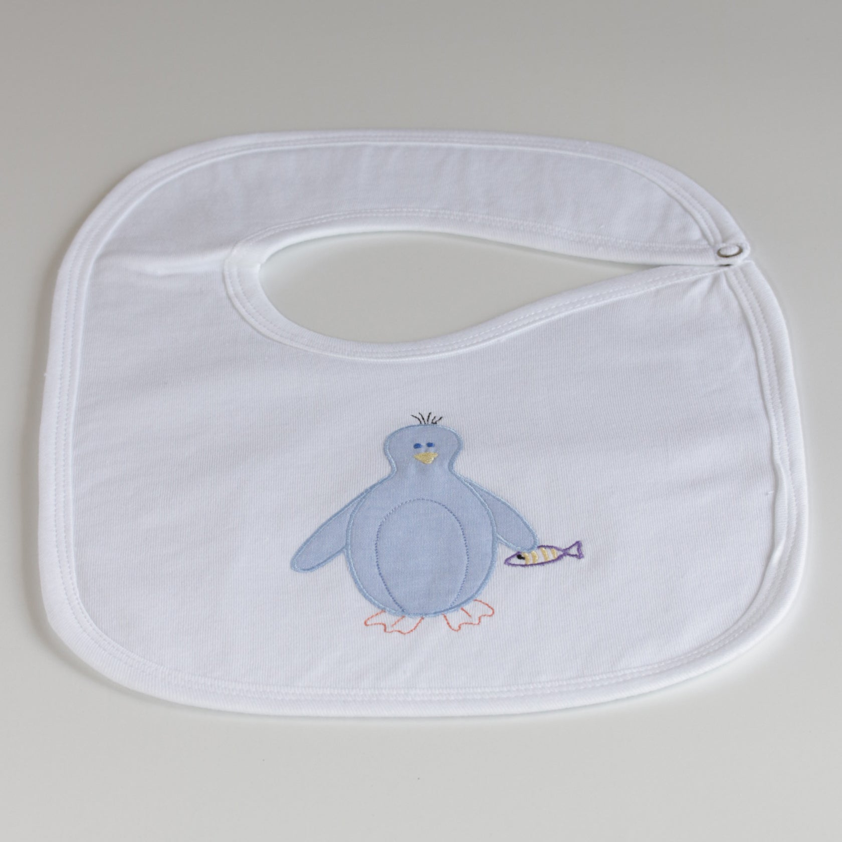 Nocturnal Affair White Bib - Penguin