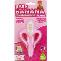Baby Banana Infant Teething Brush - Pink