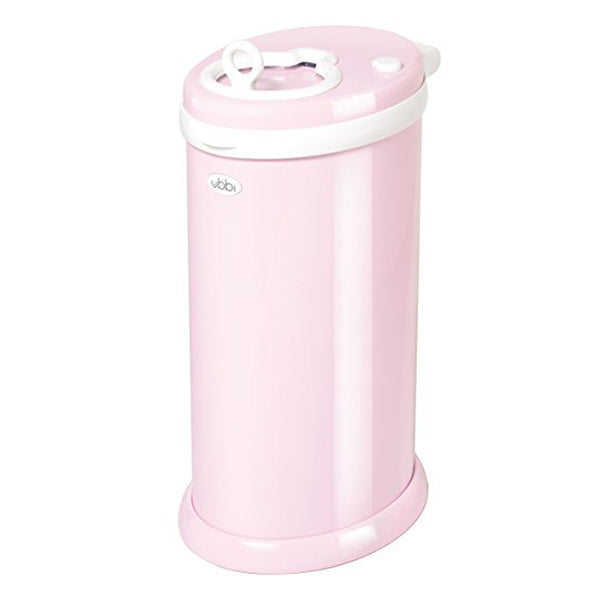 Ubbi Steel Nappy Bin - Light Pink