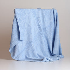 Y'Omi Knitted Bamboo Blanket - Baby Blue
