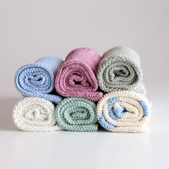 Y'Omi Knitted Bamboo Blanket - Dusty Rose