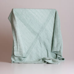 Y'Omi Knitted Bamboo Blanket - Mint Green