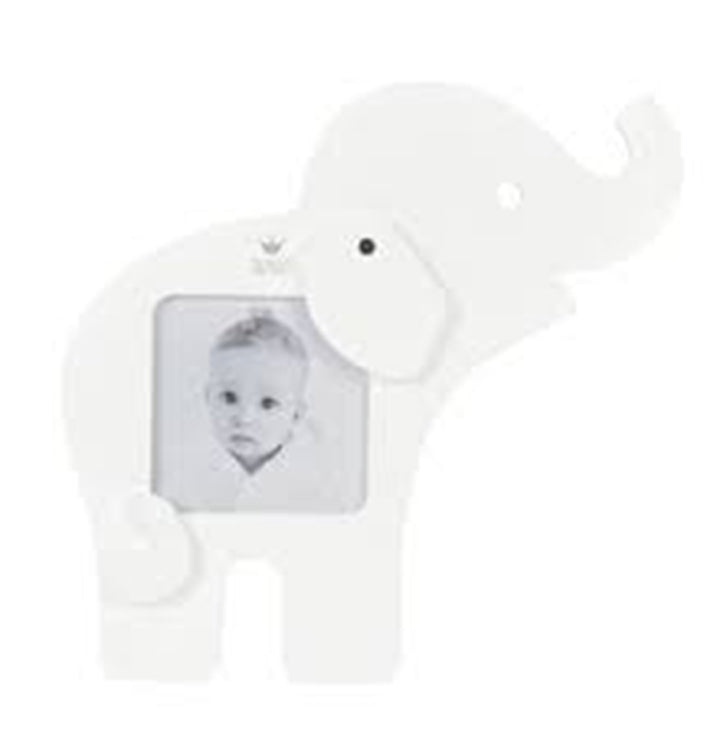 BAMBAM Elephant Wooden Picture Frame in White – The ecoBaby Company