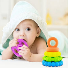 Jellystone Pastel Stacker Teether Toy