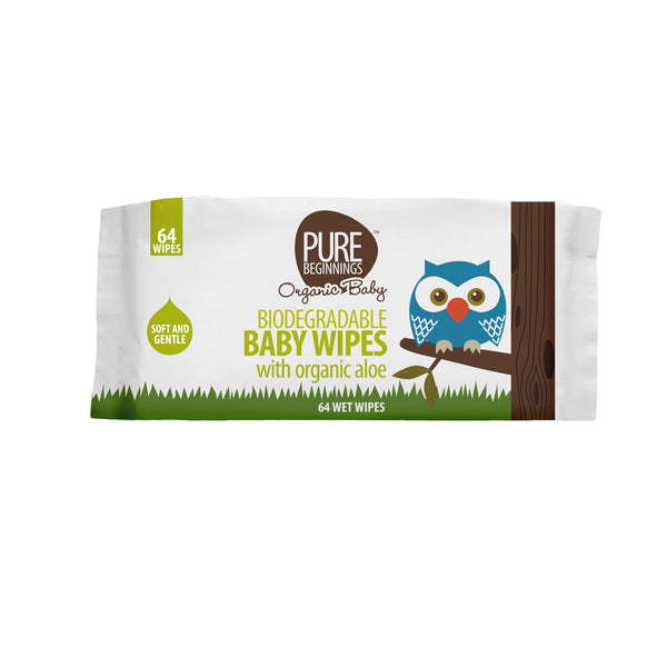 Pure Beginnings Bamboo Wet Wipes (64 pack)