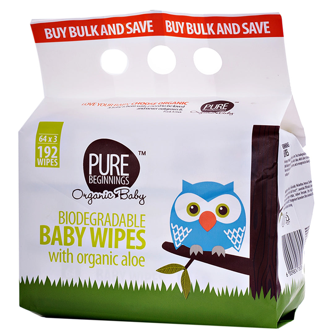 Pure Beginnings Bamboo Wet Wipes (192 pack)