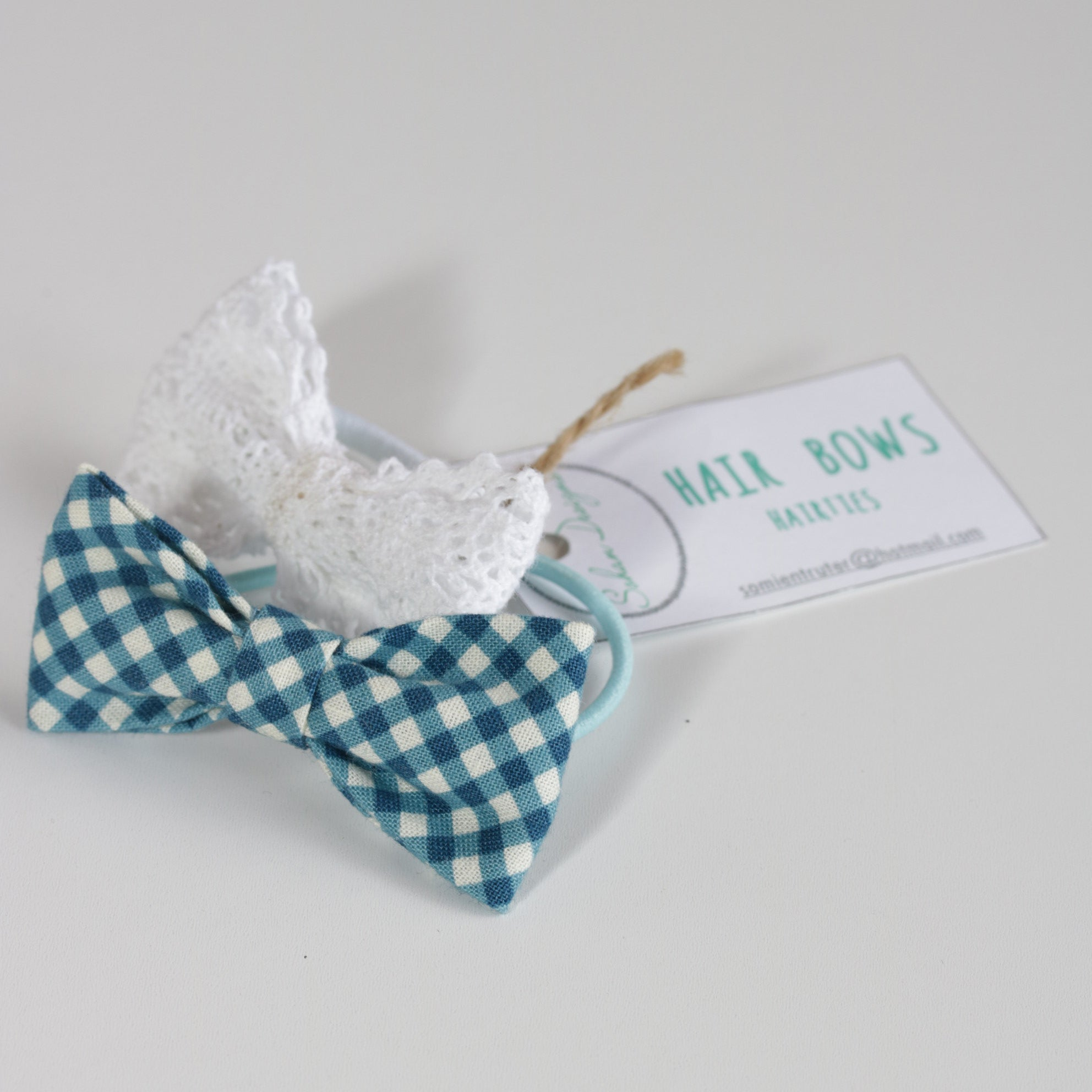 Sohan Hair Bow - Blue Check