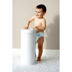 Ubbi Steel Nappy Bin - Light Blue
