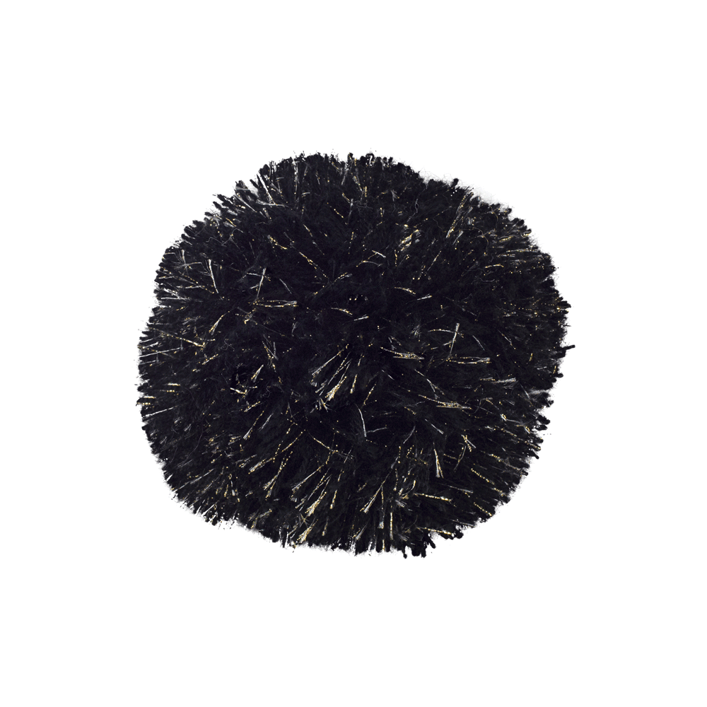 Pompon Gold/Black Lurex