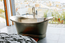 stainless steel roll top bath