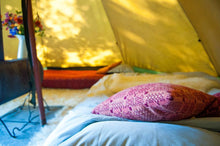 interiors in canvas tent