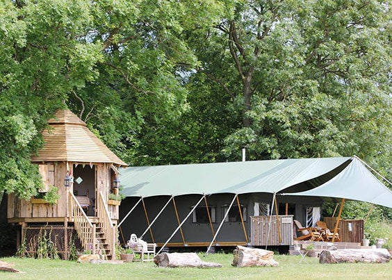 luxury farm glamping