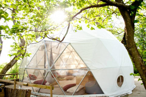 star gazing and glamping
