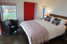 red and white suite