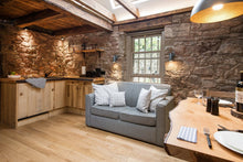 stone wall living area