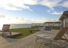 loungers with views to sea