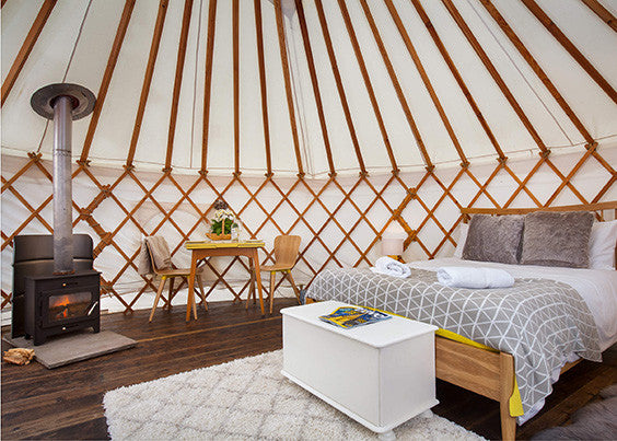 luxury yurt in somerset