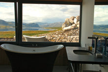 roll top bath with view