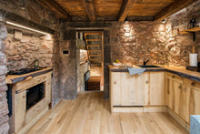 stone wall kitchen
