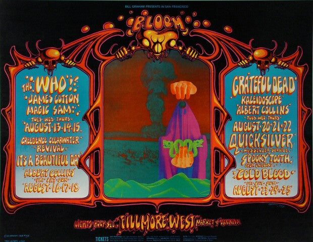 Rick Griffin Grateful Dead Poster