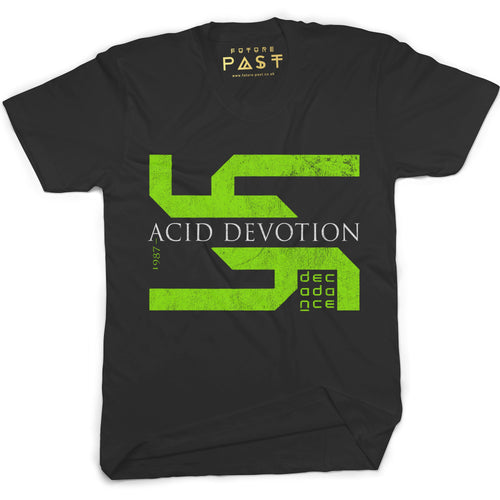 Acid Devotion T-Shirt / Black - Future Past Clothing