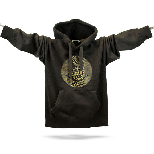 Gold Acid Pulsar Premium Hoodie - Future Past Clothing