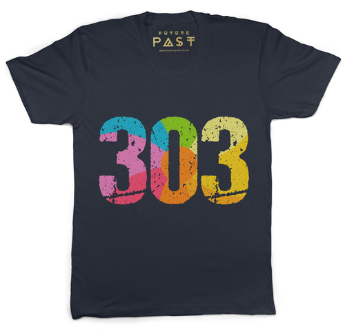 Future Past 303 T-Shirt / Navy - Future Past Clothing