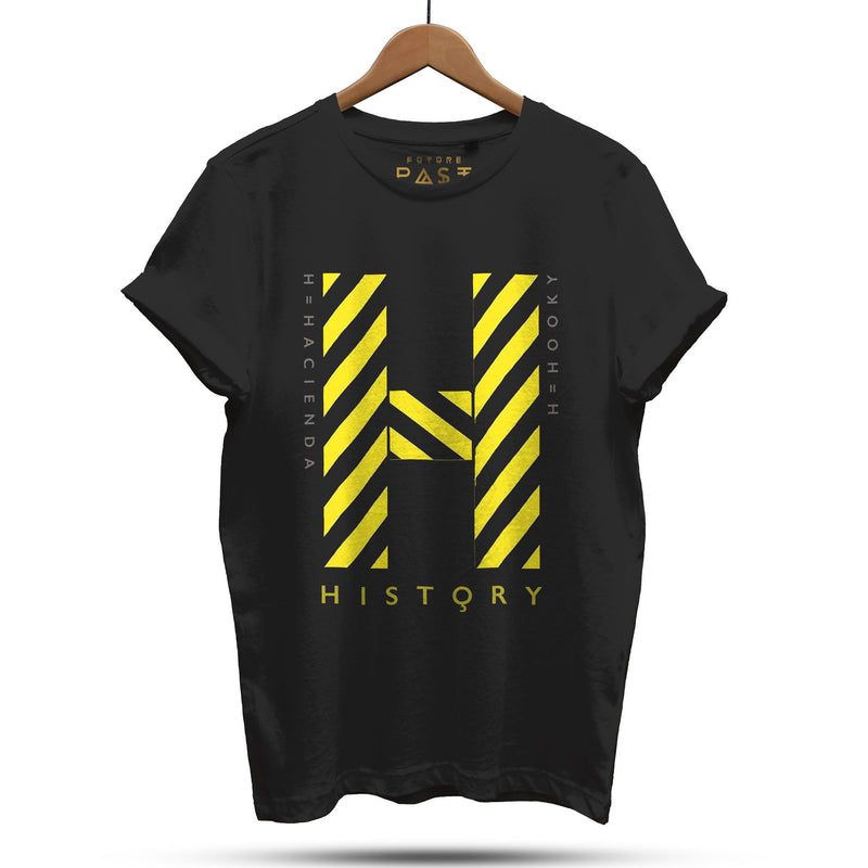 Official Hacienda FAC51 History T-Shirt / Black - Future Past Clothing