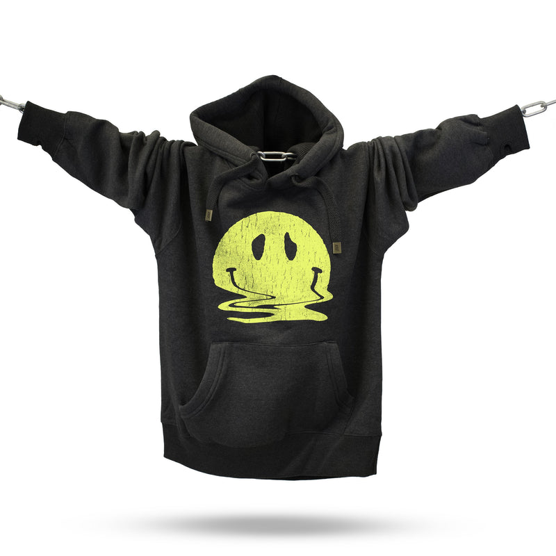 Melted Smiley Premium Hoodie - Future Past Clothing