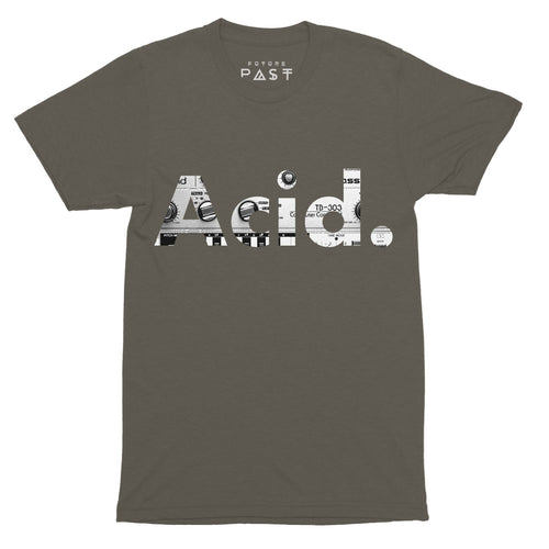Acid 303 House T-Shirt / Khaki - Future Past Clothing