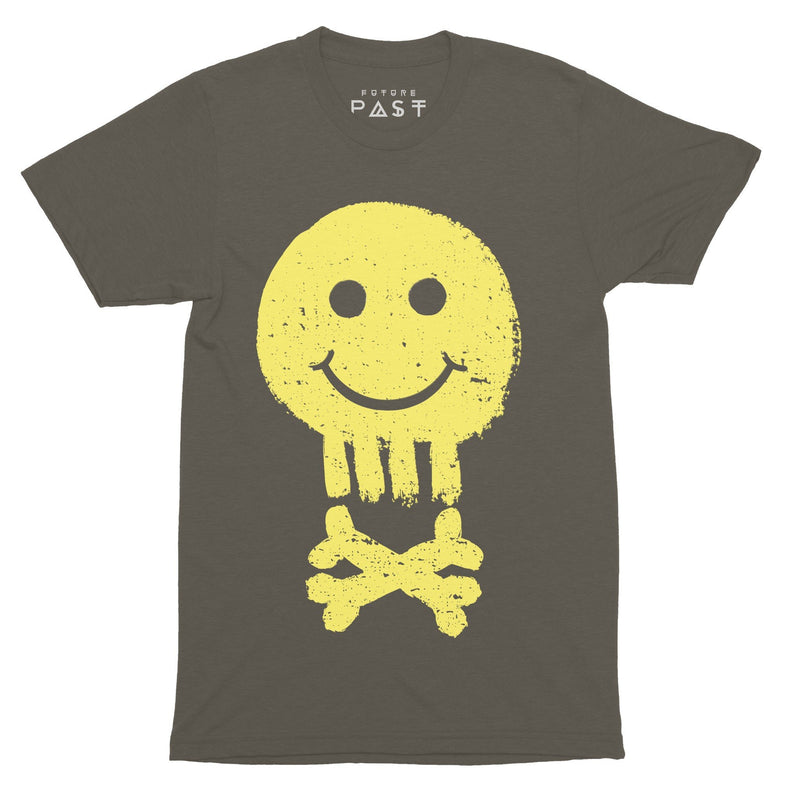 Acid House Pirate T-Shirt / Khaki - Future Past Clothing