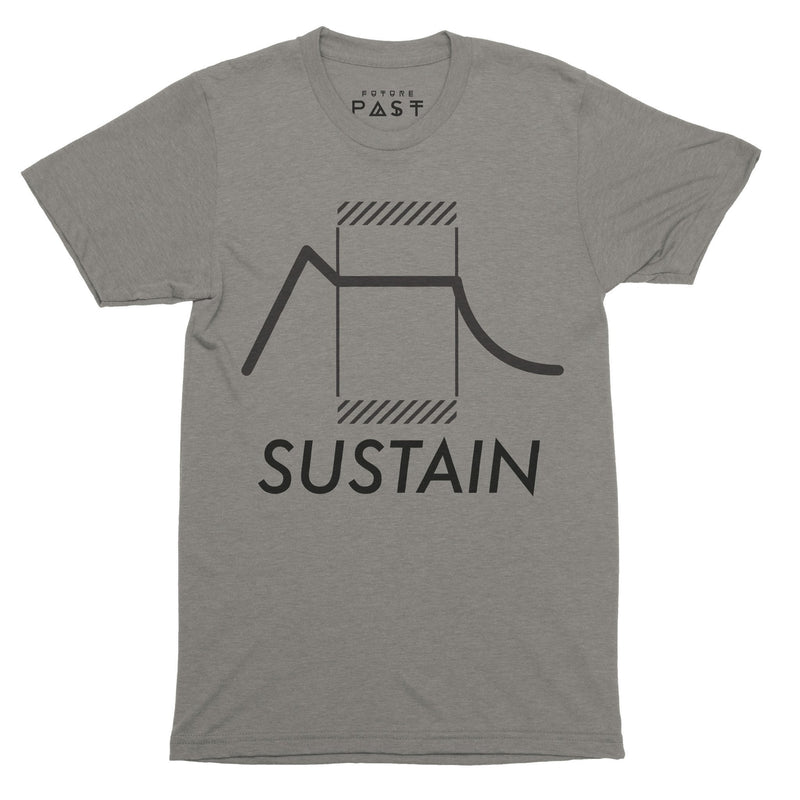 Sustain Envelope Analog T-Shirt / Grey - Future Past Clothing