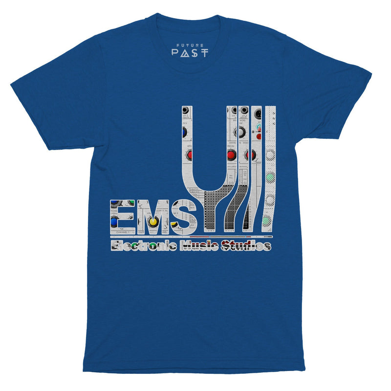 EMS Synthesisers Tribute T-Shirt / Royal - Future Past Clothing