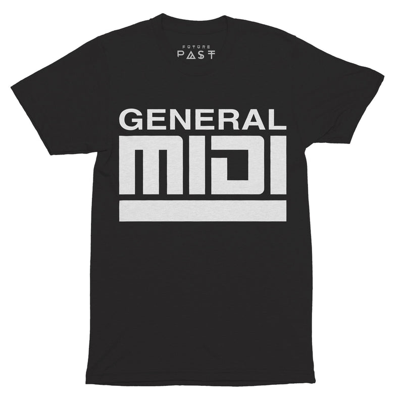 General Midi T-Shirt / Black - Future Past Clothing