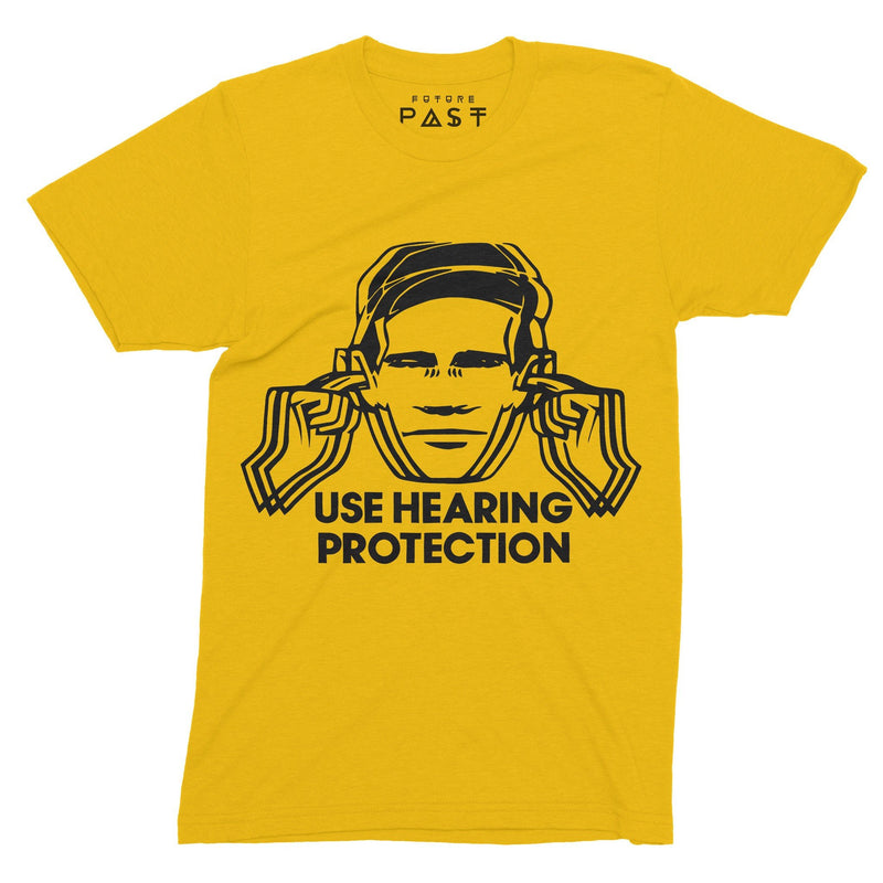 Use Hearing Protection Hacienda T-Shirt / Gold - Future Past Clothing