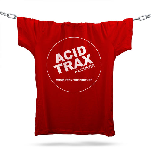 Acid Trax Records Inspired T-Shirt / Red - Future Past Clothing