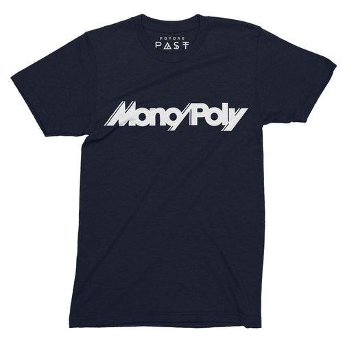 Tribute To Mono/Poly T-Shirt / Navy - Future Past Clothing