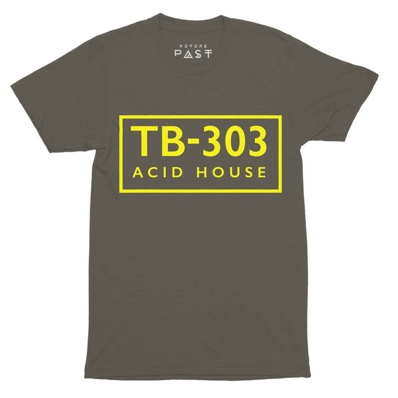 TB-303 FAC51 Acid House T-Shirt / Khaki - Future Past Clothing