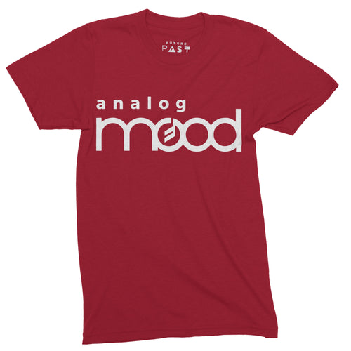 Analog Mood Synthesiser T-Shirt / Red - Future Past Clothing