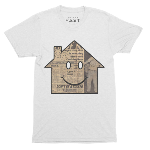 Acid House Sun T-Shirt / White - Future Past Clothing