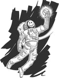 Acid House Astronaut T-Shirt / White - Future Past Clothing