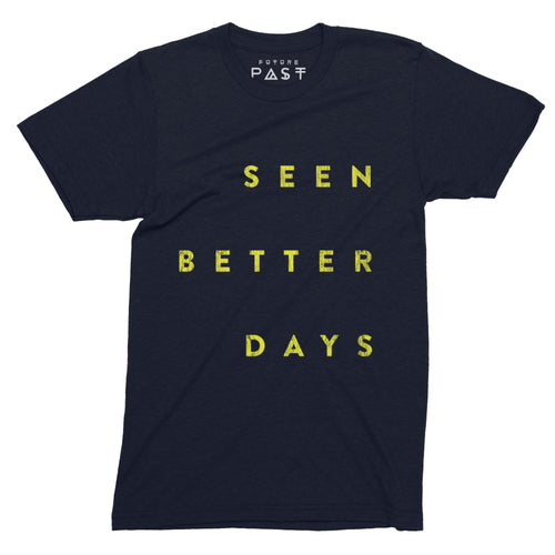 Seen Better Days T-Shirt / Navy - Future Past Clothing