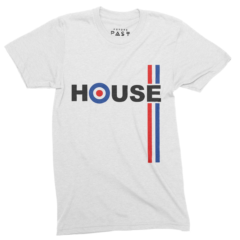 We Are House Not Mods T-Shirt / White - Future Past Clothing